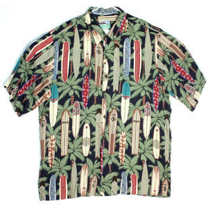Reyn Spooner Mens Hawaiian Surfboard Shirt Size XL